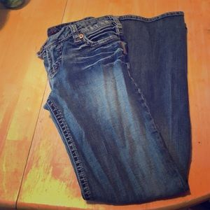 flare silver jeans